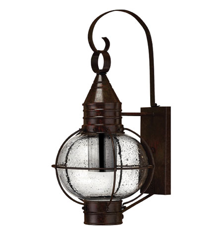 Hinkley Lighting Cape Cod 1 Light Outdoor Wall Lantern in Sienna Bronze 2204SZ-ESDS