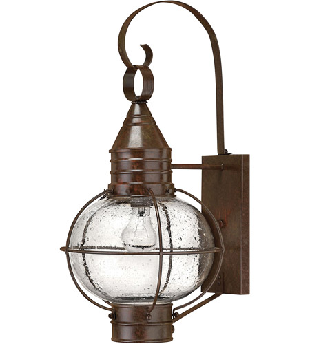 Hinkley 2204SZ-LED Cape Cod 1 Light 23 inch Sienna Bronze Outdoor Wall in LED, Clear Seedy Glass photo