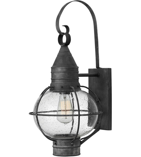 Hinkley Lighting Cape Cod 1 Light Outdoor Wall in Aged Zinc 2204DZ-LED