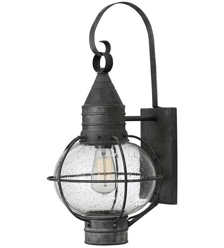 Hinkley 2204DZ Cape Cod 1 Light 23 inch Aged Zinc Outdoor Wall in Incandescent photo