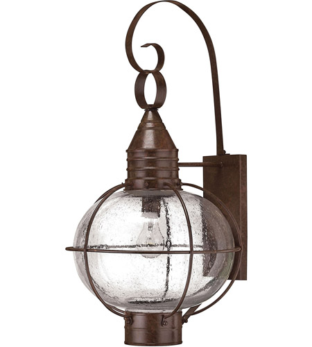 Hinkley 2205SZ-LED Cape Cod 1 Light 27 inch Sienna Bronze Outdoor Wall in LED, Clear Seedy Glass photo