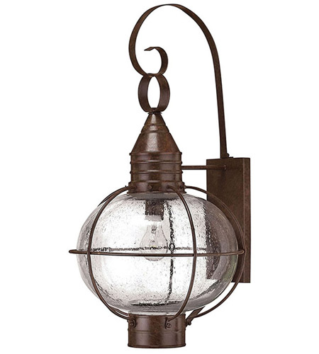 Hinkley 2205SZ Cape Cod 1 Light 27 inch Sienna Bronze Outdoor Wall Lantern in Incandescent photo