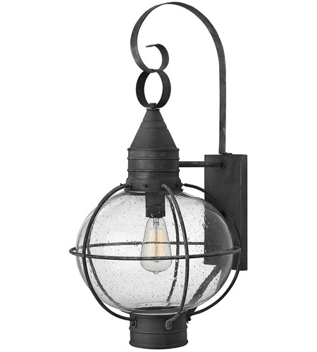 Hinkley 2205DZ Cape Cod 1 Light 27 inch Aged Zinc Outdoor Wall in Incandescent photo