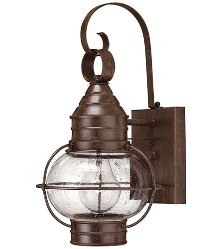 Hinkley Lighting Cape Cod 1 Light Outdoor Wall Lantern in Sienna Bronze 2206SZ