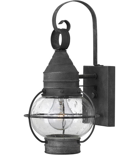 Hinkley Lighting Cape Cod 1 Light Outdoor Wall in Aged Zinc 2206DZ-LED