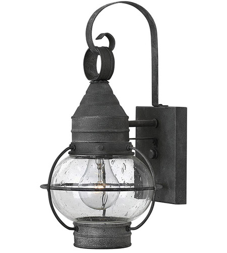 Hinkley 2206DZ Cape Cod 1 Light 14 inch Aged Zinc Outdoor Wall in Incandescent photo