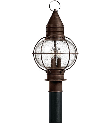 Hinkley 2207SZ Cape Cod 3 Light 21 inch Sienna Bronze Outdoor Post Mount in Incandescent, Post Sold Separately photo