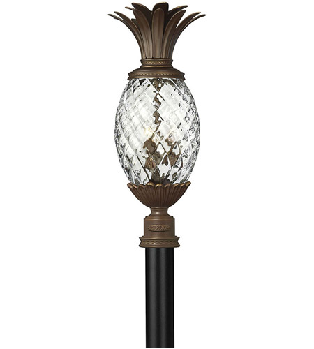 Hinkley Lighting Plantation 3 Light Post Lantern (Post Sold Separately) in Copper Bronze 2221CB photo