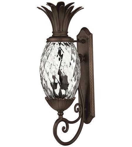 Hinkley Lighting Plantation 3 Light Outdoor Wall Lantern in Copper Bronze 2224CB
