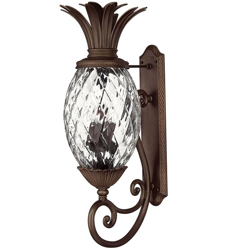 Hinkley Lighting Plantation 4 Light Outdoor Wall Lantern in Copper Bronze 2225CB