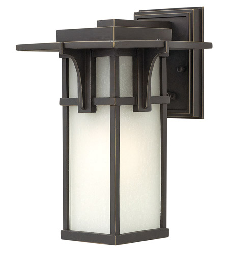Hinkley Lighting Manhattan 1 Light GU24 CFL Outdoor Wall in Oil Rubbed Bronze 2230OZ-GU24