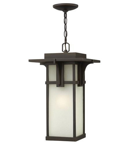 Hinkley Lighting Manhattan 1 Light GU24 CFL Outdoor Hanging in Oil Rubbed Bronze 2232OZ-GU24