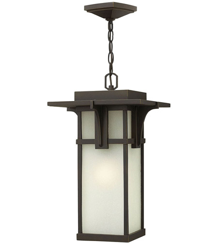Hinkley 2232OZ Manhattan 1 Light 11 inch Oil Rubbed Bronze Outdoor Hanging Lantern in Incandescent photo