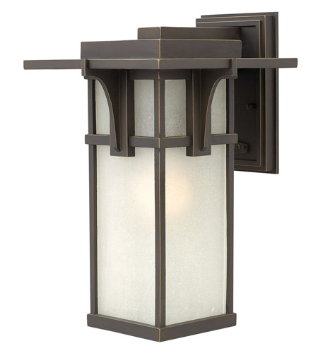 Hinkley Lighting Manhattan 1 Light GU24 CFL Outdoor Wall in Oil Rubbed Bronze 2234OZ-GU24