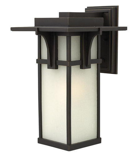 Hinkley Lighting Manhattan 1 Light GU24 CFL Outdoor Wall in Oil Rubbed Bronze 2235OZ-GU24