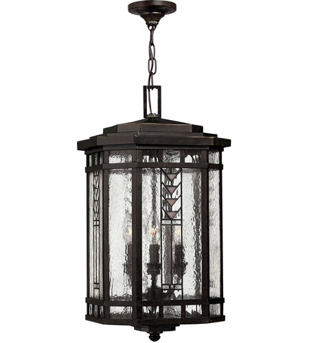 Hinkley Lighting Tahoe 4 Light Outdoor Hanging Lantern in Regency Bronze 2242RB