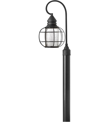 Hinkley Lighting New Castle 1 Light Post Lantern (Post Sold Separately) in Black 2251BK