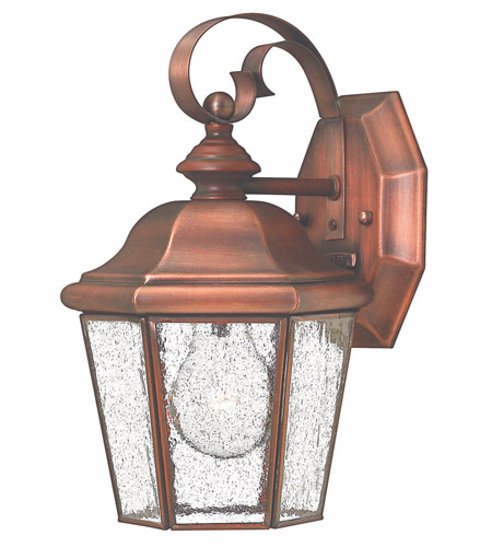 Hinkley 2260AP Clifton Beach 1 Light 11 inch Antique Copper Outdoor Wall Lantern photo
