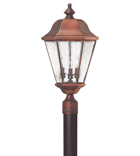Hinkley 2261AP Clifton Beach 3 Light 24 inch Antique Copper Post Lantern, Post Sold Separately photo