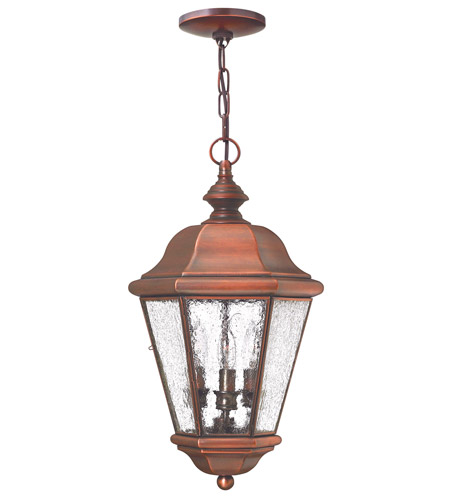 Hinkley Lighting Clifton Beach 3 Light Outdoor Hanging Lantern in Antique Copper 2262AP photo