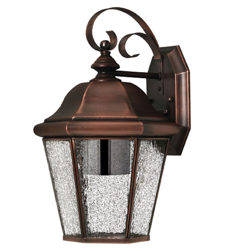 Hinkley Lighting Clifton Beach 1 Light Outdoor Wall Lantern in Antique Copper 2263AP-ESDS