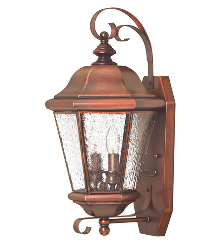Hinkley 2265AP Clifton Beach 2 Light 18 inch Antique Copper Outdoor Wall Lantern photo