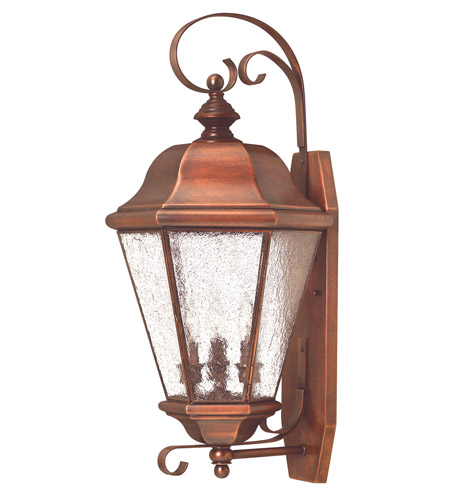 Hinkley Lighting Clifton Beach 3 Light Outdoor Wall Lantern in Antique Copper 2268AP