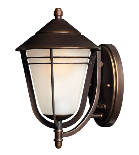 Hinkley Lighting Aurora 1 Light GU24 CFL Outdoor Wall in Metro Bronze 2280MT-GU24 photo