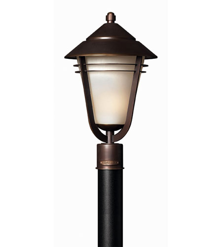Hinkley Lighting Aurora 1 Light Post Lantern (Post Sold Separately) in Metro Bronze 2281MT-ES