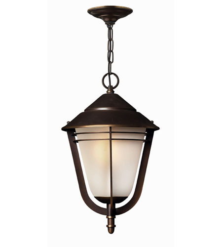 Hinkley Lighting Aurora 1 Light Outdoor Hanging Lantern in Metro Bronze 2282MT-ES