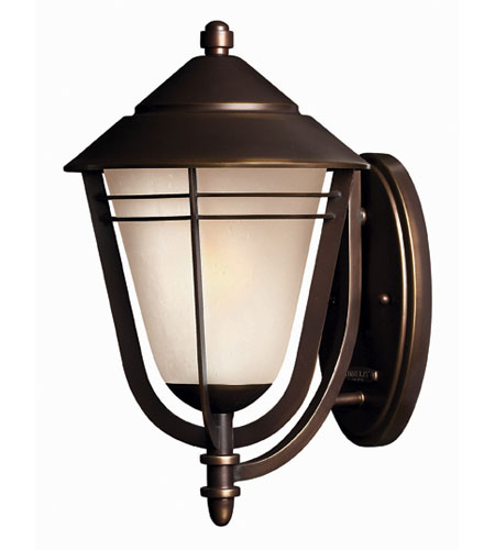 Hinkley Lighting Aurora 1 Light Outdoor Wall Lantern in Metro Bronze 2284MT-ES