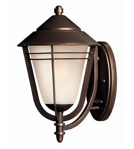 Hinkley Lighting Aurora 1 Light Outdoor Wall Lantern in Metro Bronze 2284MT