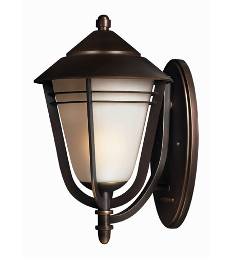 Hinkley Lighting Aurora 1 Light Outdoor Wall Lantern in Metro Bronze 2285MT-ES