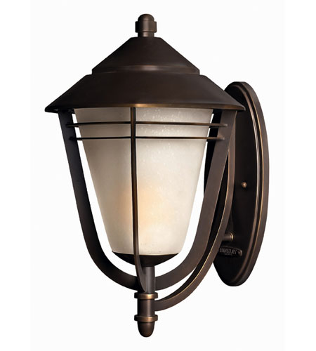 Hinkley Lighting Aurora 1 Light Outdoor Wall Lantern in Metro Bronze 2289MT-ES photo