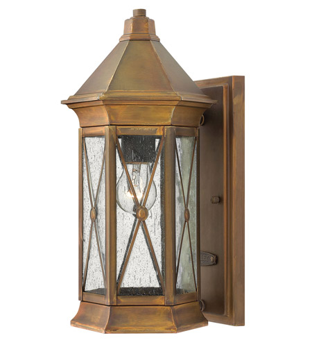 Hinkley Lighting Brighton 1 Light Outdoor Wall Lantern in Sienna 2290SN-LED