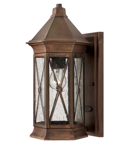 Hinkley 2290SN Brighton 1 Light 14 inch Sienna Outdoor Wall Lantern in Incandescent photo
