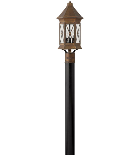 Hinkley Lighting Brighton 3 Light Post Lantern (Post Sold Separately) in Sienna 2291SN