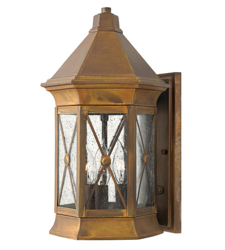Hinkley Lighting Brighton 1 Light Outdoor Wall Lantern in Sienna 2294SN-ESDS