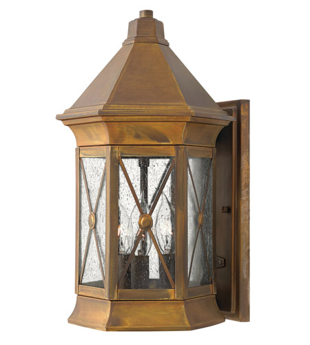 Hinkley 2294SN-LED Brighton LED 16 inch Sienna Outdoor Wall Lantern photo