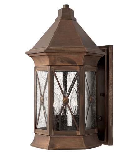 Hinkley 2294SN Brighton 3 Light 16 inch Sienna Outdoor Wall Lantern in Incandescent photo