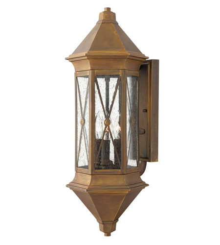 Hinkley Lighting Brighton 1 Light Outdoor Wall Lantern in Sienna 2295SN-ES photo