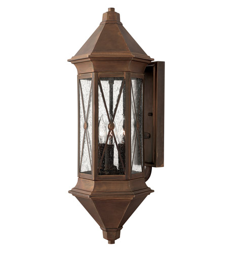 Hinkley Lighting Brighton 3 Light Outdoor Wall Lantern in Sienna 2295SN