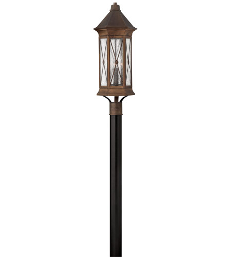 Hinkley 2297SN Brighton 4 Light 28 inch Sienna Post Lantern in Incandescent, Post Sold Separately photo