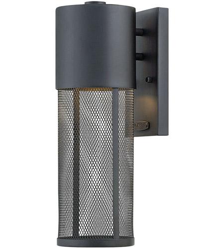 Small Black Wall Sconces : Hinkley 2300BK-LED Aria LED 16 inch Black Outdoor Wall Sconce, Small