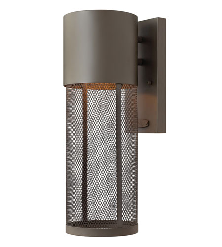 Hinkley Lighting Aria 1 Light Outdoor Wall Lantern in Buckeye Bronze 2300KZ-ES