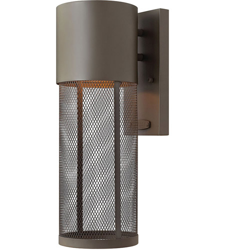 Hinkley Lighting Aria 1 Light Outdoor Wall Lantern in Buckeye Bronze 2300KZ