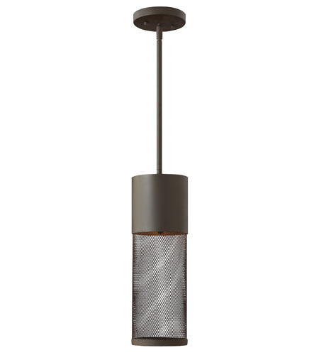 Hinkley Lighting Aria 1 Light Outdoor Hanging Lantern in Buckeye Bronze 2302KZ-ES photo
