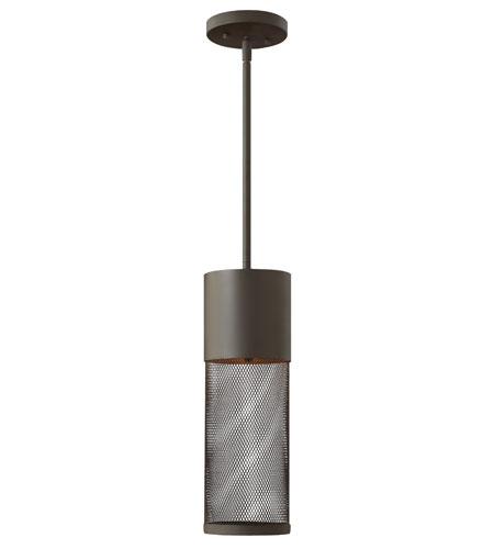 Hinkley Lighting Aria 1 Light Outdoor Hanging Lantern in Buckeye Bronze 2302KZ-ES