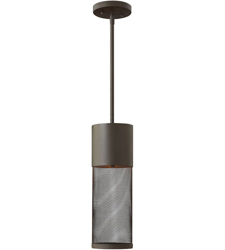 Hinkley Lighting Aria 1 Light Outdoor Hanging Lantern in Buckeye Bronze 2302KZ