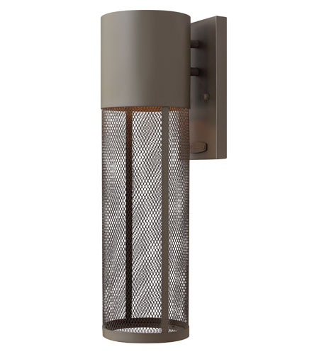 Hinkley Lighting Aria 1 Light Outdoor Wall Lantern in Buckeye Bronze 2304KZ-ES